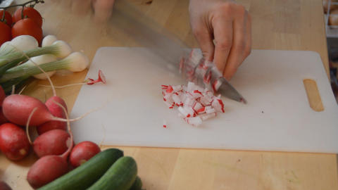 Radish Diced Into Bits Live Action