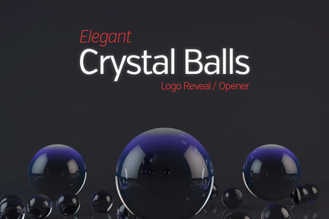Elegant Crystal Balls Opener and Logo Reveal After Effects Template