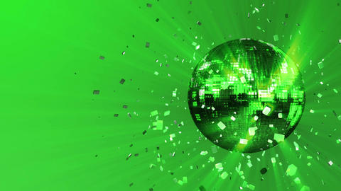 Abstract looped animated background: pulsating and spinning acid-green glow disc Animation