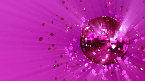 Abstract looped animated background: pulsating and spinning pink-rose glow disco Animation