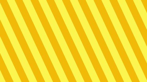 斜めのストライプ 黄色 太い ループ CG動画