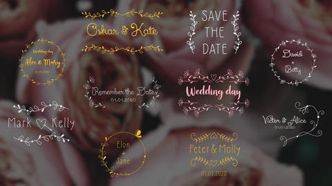 Wedding Day Titles Apple Motion Template