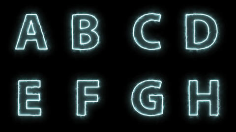 energy haze alphabet set. full alphabet set bundle Animation