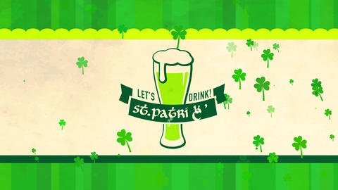 vacation party concept science for st patricks day ceremony designed with tempting large green beer Animation