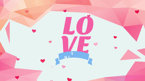 valentines day letter covering with affection written with big writing surrounded by color Animation