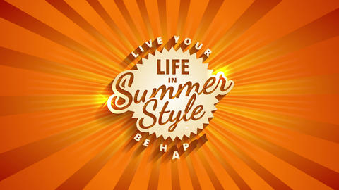 summertime vacation for tour agency with words be smiling and real your life written in mature make Animation