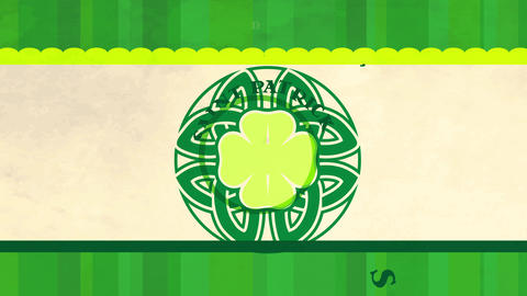 saint patricks holiday with everyones irish on march 17 written around a celtic mandala with a four Animation