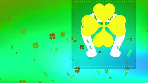 vacation ceremony with god patricks written indoor horseshoe with celtic offset peripheral shamrock Animation