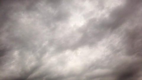 Time lapse overcast cloudy clouds with dense nimbostratus dark ominous clouds and lightning Live Action