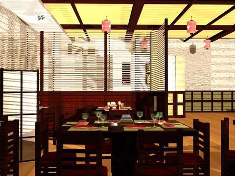 Japanese Restaurant 3D Model