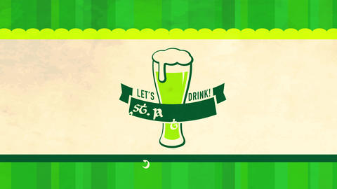 holiday party concept art for st patricks day celebration designed with appetizing long green beer Animation