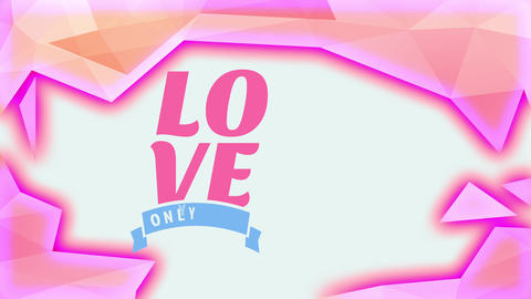 valentines day writing cover with affection written with big font surrounded by pink abstraction Animation