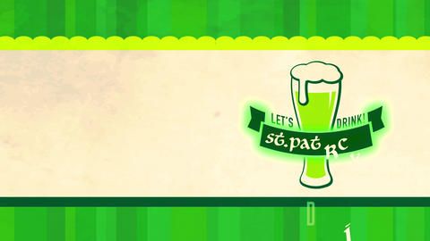 vacation banquet concept art for st patricks day ceremony designed with tempting long green brew Animation