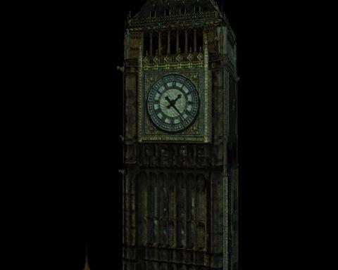 Big Ben Landmark Building 3D Model