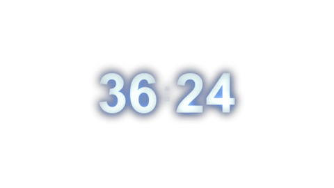 Digital display 60-second countdown(including alpha) Animation