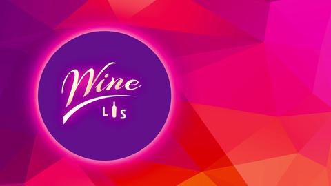 wine list using underlined italic offset and container substituting writing i over a multicolor Animation