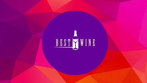 bar restaurant best wine list using smooth vintage lettering with elegant bottle and glass between Animation