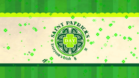 saint patricks vacation with everyones english on march 17 written surrounding a celtic mandala with Animation