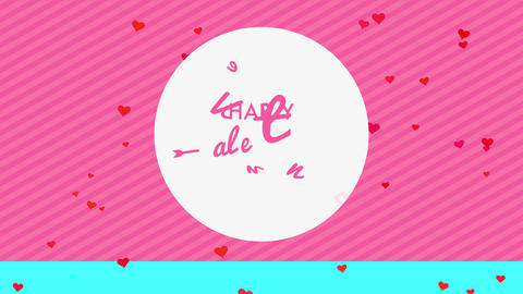 joyful valentines day with words written indoor white rounded handling cursive font and communicate Animation