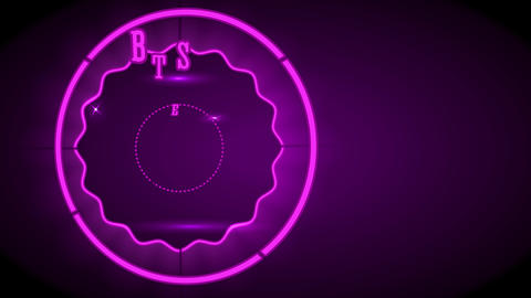 commerce contract concept science designed with a circular shining figure made with neon lights with Animation