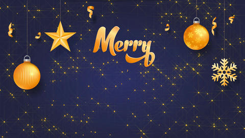 christmas science concept designed with words merry christmas written with yellow cursive typography Animation