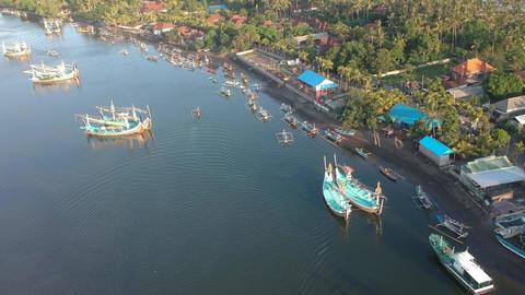 Prancak Perancak west bali many traditional balinese boats Live Action