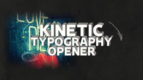Kinetic Typography Opener After Effects Template
