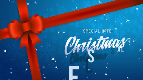 unique offer christmas transfer written with combination of fashionable and classical typography on Animation
