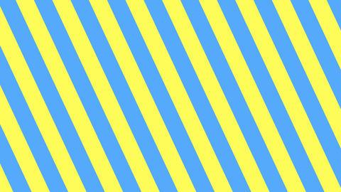 斜めのストライプ 黄色と水色 太い ループ CG動画