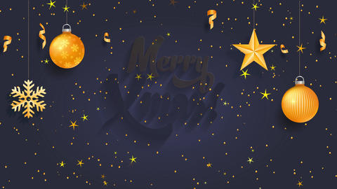christmas science concept designed with words merry xmas written with yellow cursive offset over a Animation