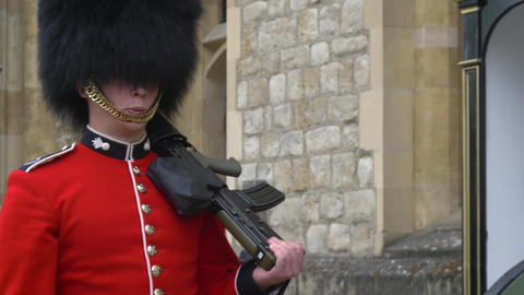 Sentry on duty at the Tower of London Live Action