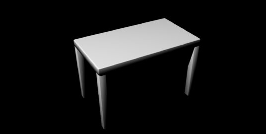 Simple Table untextured Modelo 3D