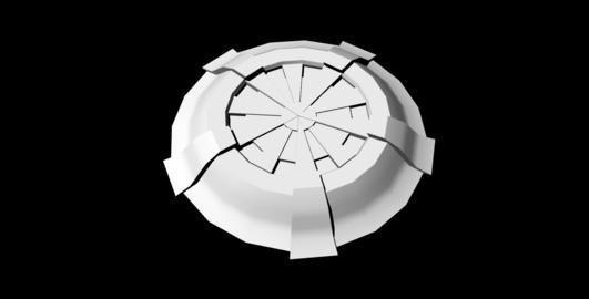 Sci-Fi Shield untextured 3D Model