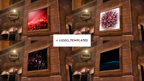 4 templates with finished videos After Effects Template