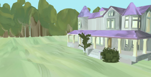 Painted Mansion Environment Exterior 3Dモデル