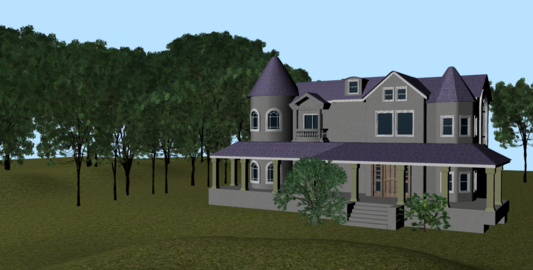 Realistic Mansion Environment Exterior 3Dモデル