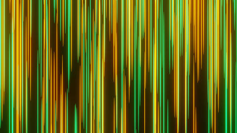 Green Orange Abstract Meteor or Lightspeed in Space Move Through Camera Animation