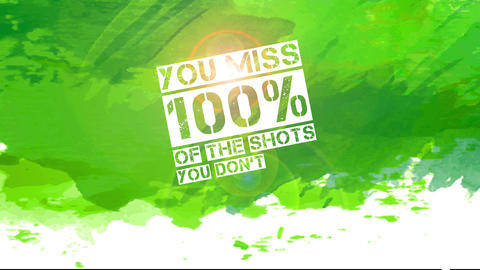 alcoholic drink publicity with text you miss 100 rate of the shots you dont drink written with Animation