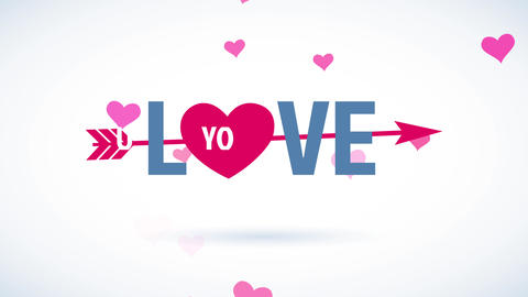 joyful valentines day text with the phrase romance yourself written with modern offset with a pink Animation