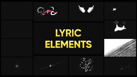 Lyric Elements Motion Graphics Template