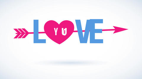 cheerful valentines day script with the phrase affection you written with fashionable typography Animation