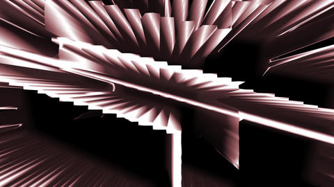 Golden Sepia Abstract Animated Technological Structure Animation