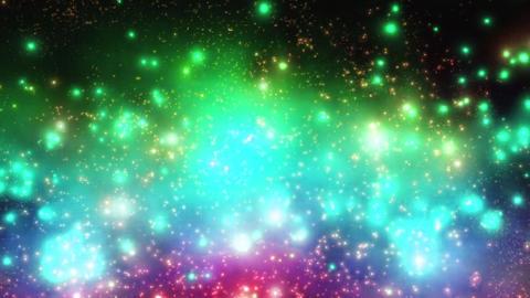レインボー パーティクル 宇宙 背景 バックグラウンド ループ CG動画