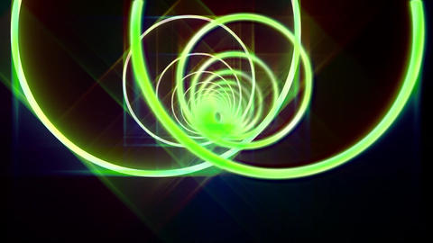 Neon Circles Electric Tunnel Lights Animation