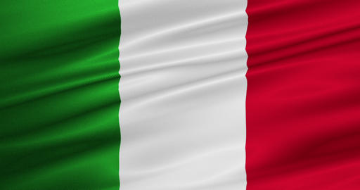 waving fabric texture of the flag of italy Live Action