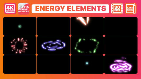 Energy and Titles Apple Motion Template