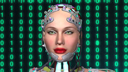 artificial intelligence, animation, tehno woman,girl robot Animation
