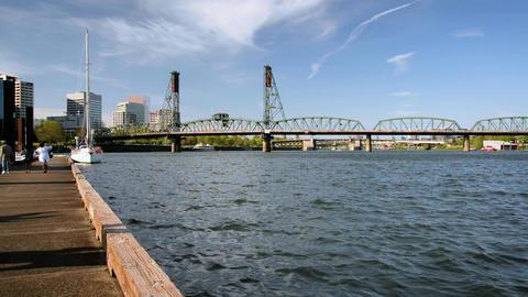 Hawthorne Bridge View Footage