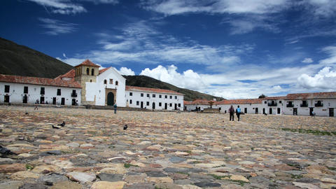 Villa de Leyva Plaza View Footage