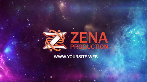 Logo reveal through stars and nebulas After Effects Template